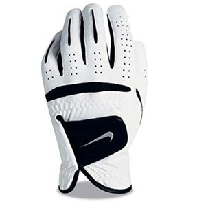 NIKE GOLF  GLOVE RIGHT HAND. White with black M/L